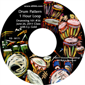 Drumming Loop CD for Class 38, Drumming 101 #1 cdm172